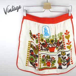 Vintage Terry Cloth Half Apron